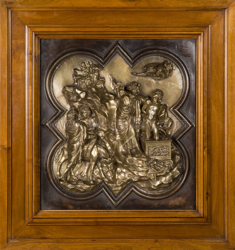sacrifice of isaac ghiberti Ghiberti's competition panel, also depicting the sacrifice of isaac the following clip is presented to supplement the ghiberti's north doors post at the wonderful alberti's window  in this post, monica points out a common misconception about the present-day north doors at the san giovanni baptistry in florence.